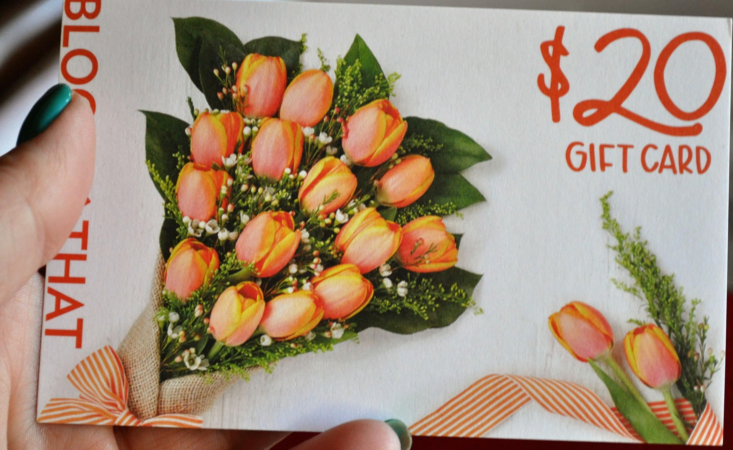 Popsugar Flower Gift Certificate