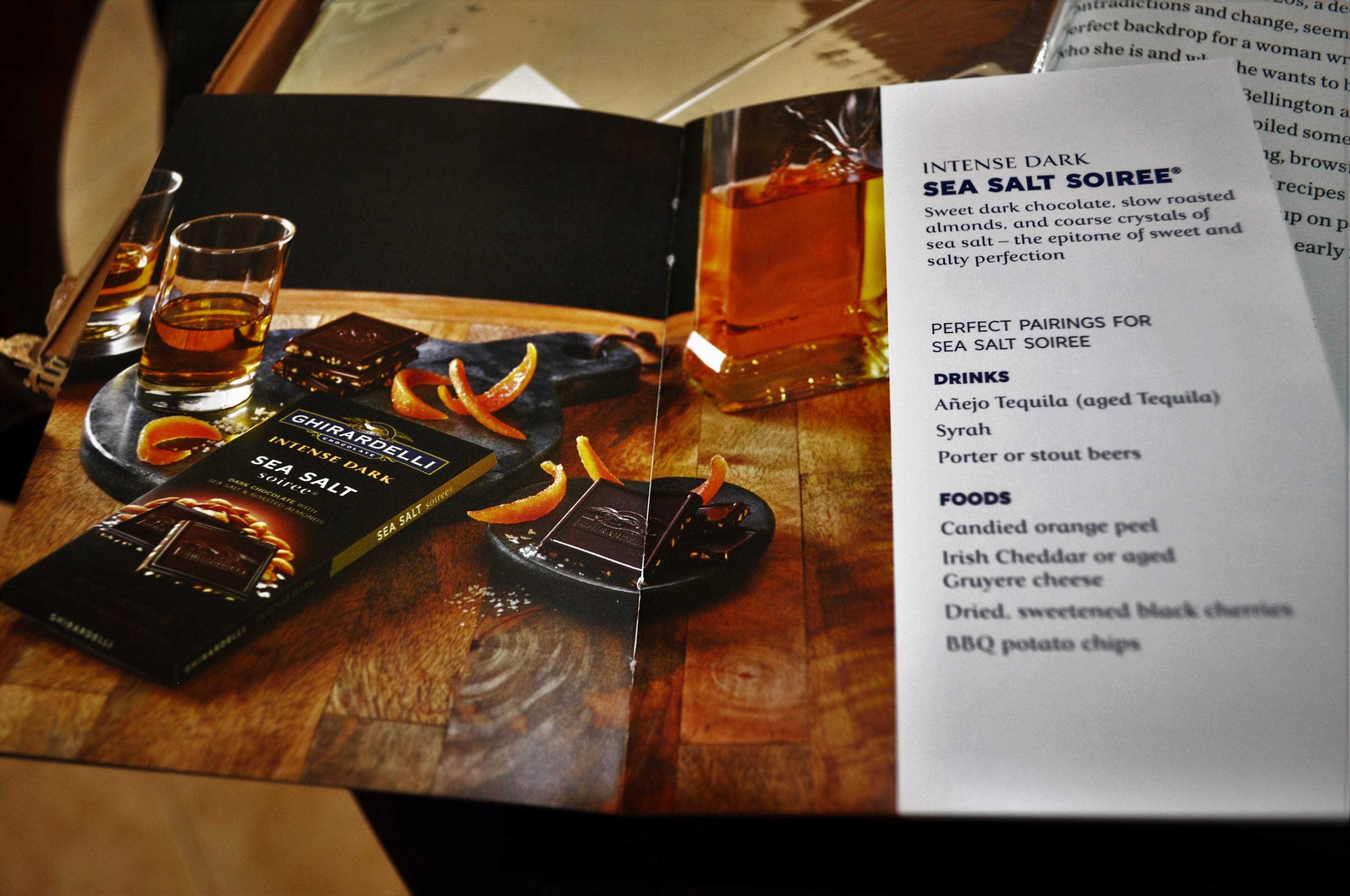 Ghirardelli's Savor the Dark Book Club May 2016 Chocolate Guide 1
