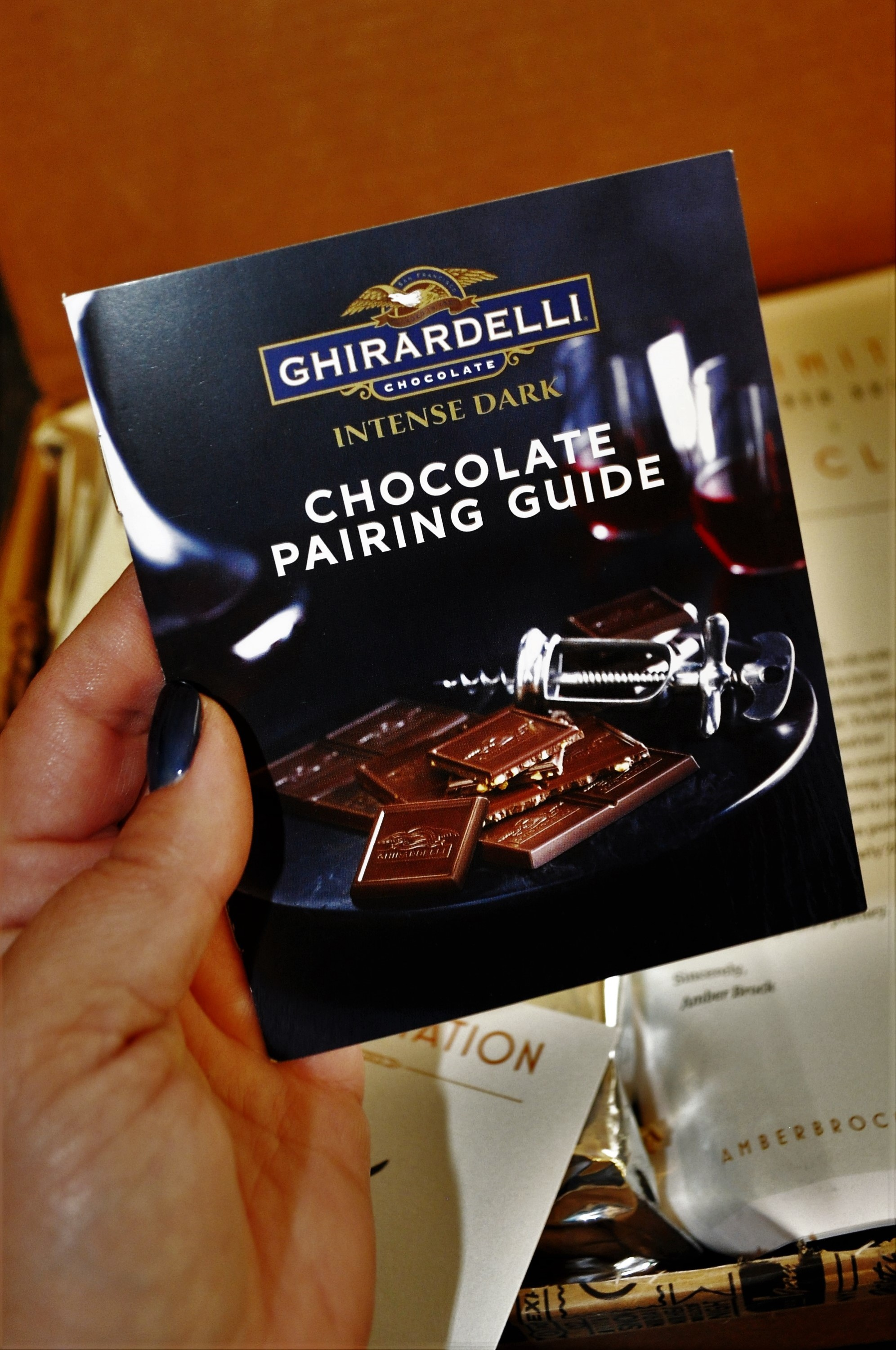 Ghirardelli's Savor the Dark Book Club May 2016 Chocolate Guide