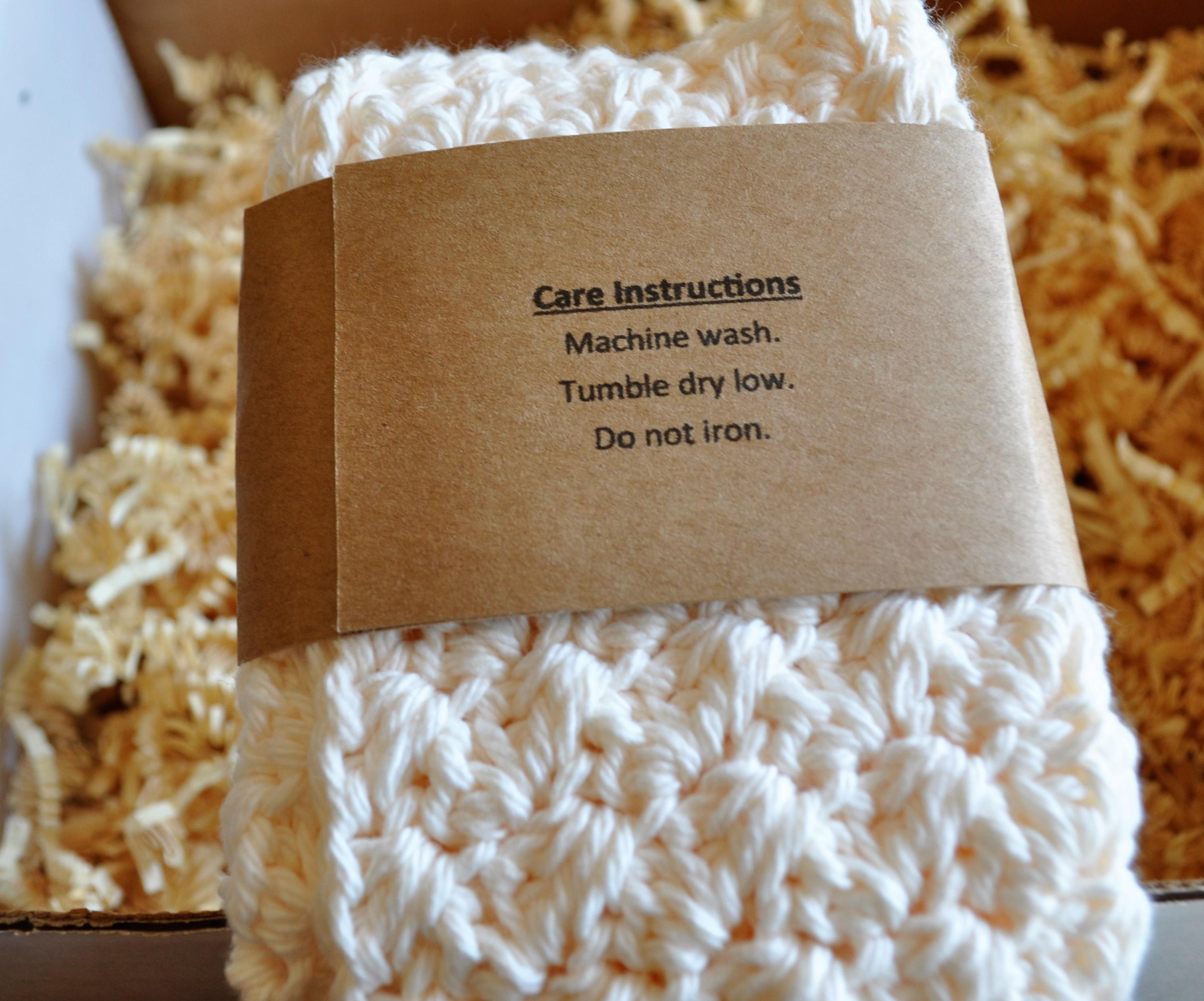 Cozy Reader Club June 2016 Washcloth 2