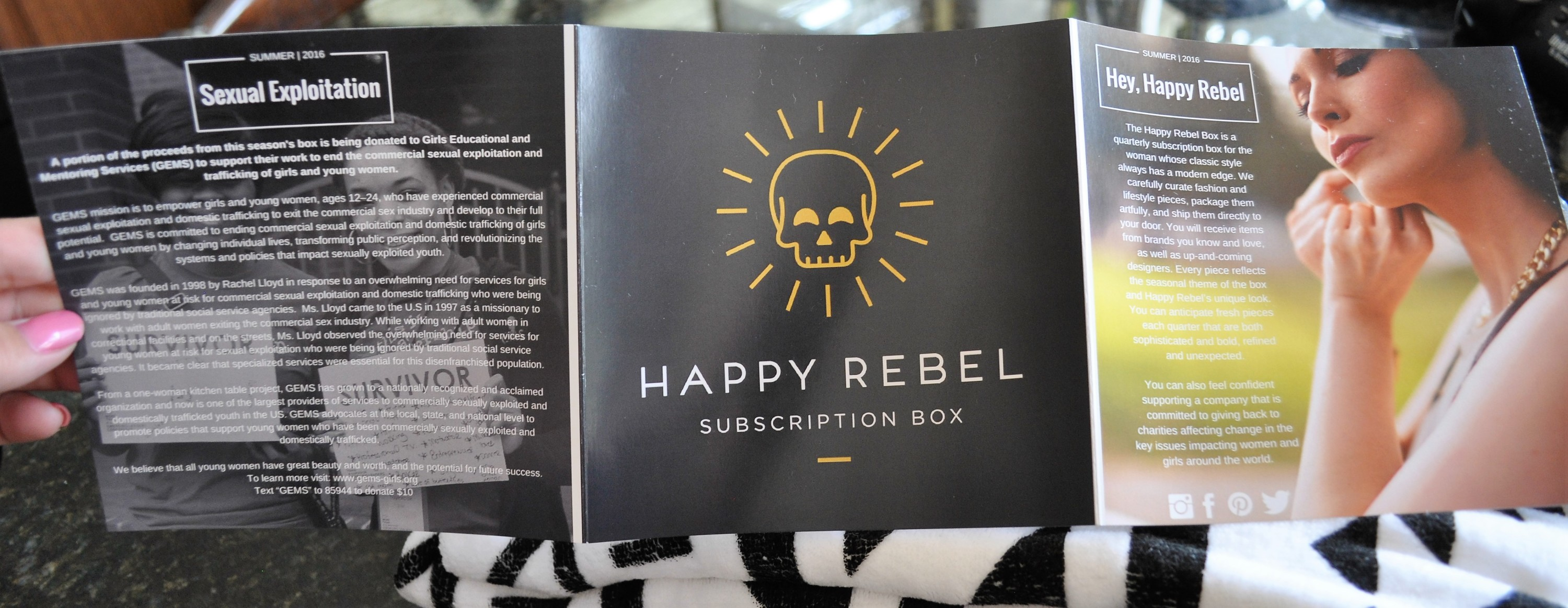 Happy Rebel Box Summer 2016 Insert 1